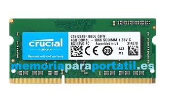 8GB DDR3 PC3-12800 SODIMM 1600MHz 204 pines 1,5V CL11
